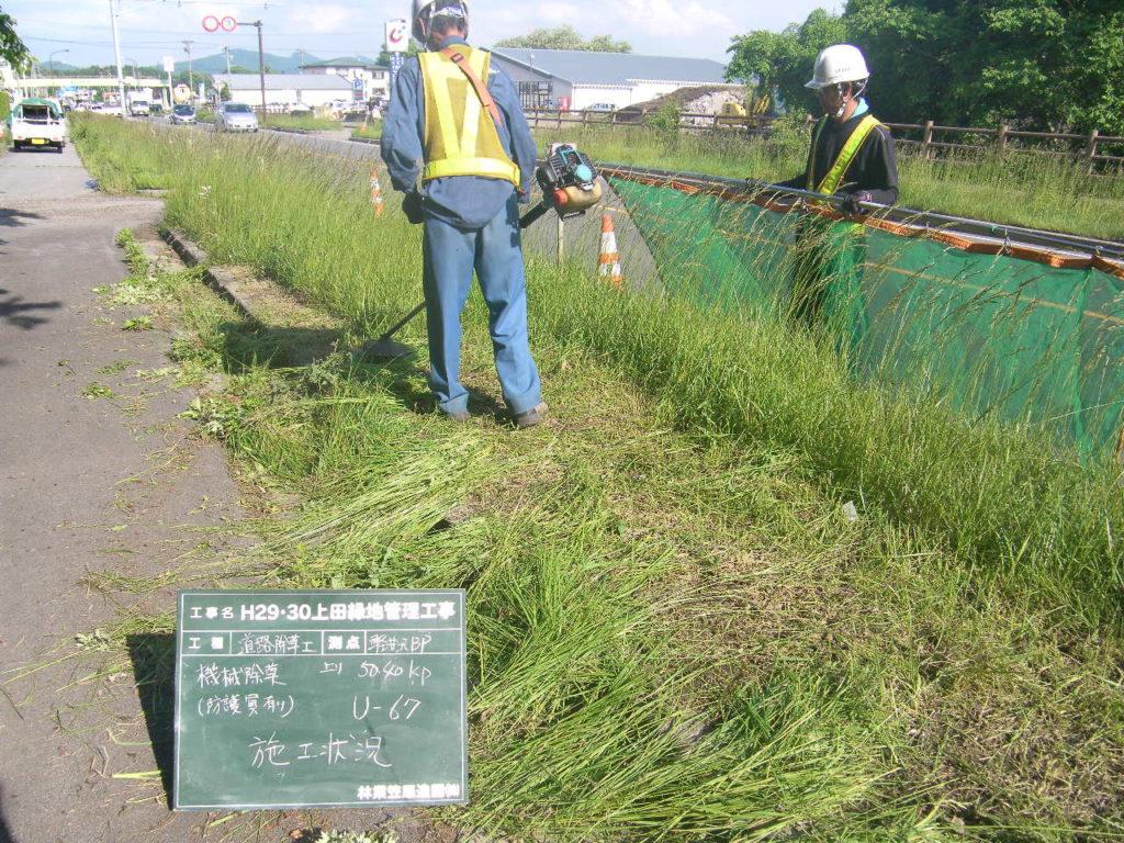 軽井沢地区での機械除草